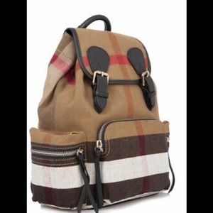 Burberry Canvas Check Medium Backpack